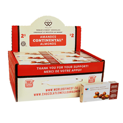 Continental Almonds – Peanut Free – $2