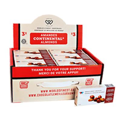 Mallette de transport de qualité supérieure pour amandes Continental - Sans arachides - 3 $