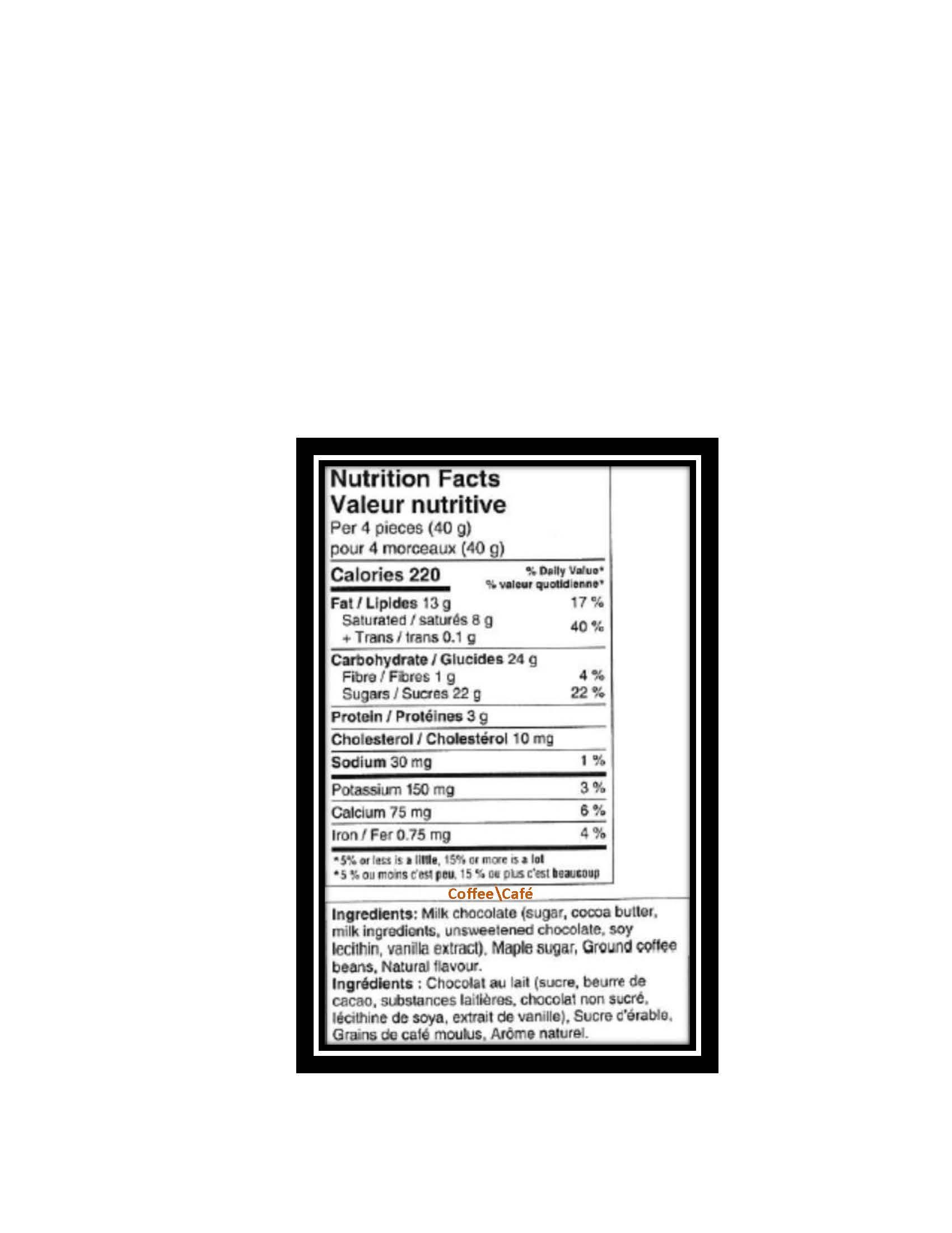 Laura Secord – Sans arachides – 5 $